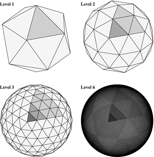 Spherical-tessellation-grids-and-parent-daughter-triangle-relationships-The-initial