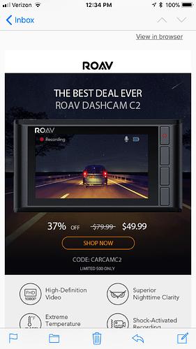 Roav c2 discount  49 99 after code  Us only - Deals