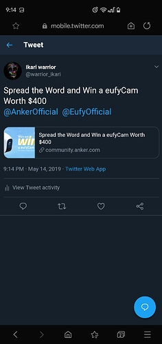 Spread the Word and Win a eufyCam Worth $400 - Deals