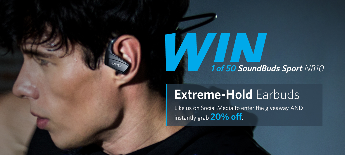 b04476378e7 SoundBuds Sport NB10, Extreme-Hold Earbuds Giveaway & Discount ...