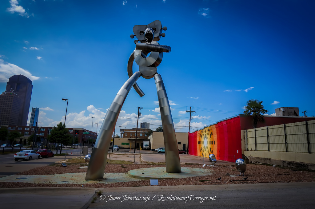 The Traveling Man Statue - Deep Ellum, Dallas, Texas