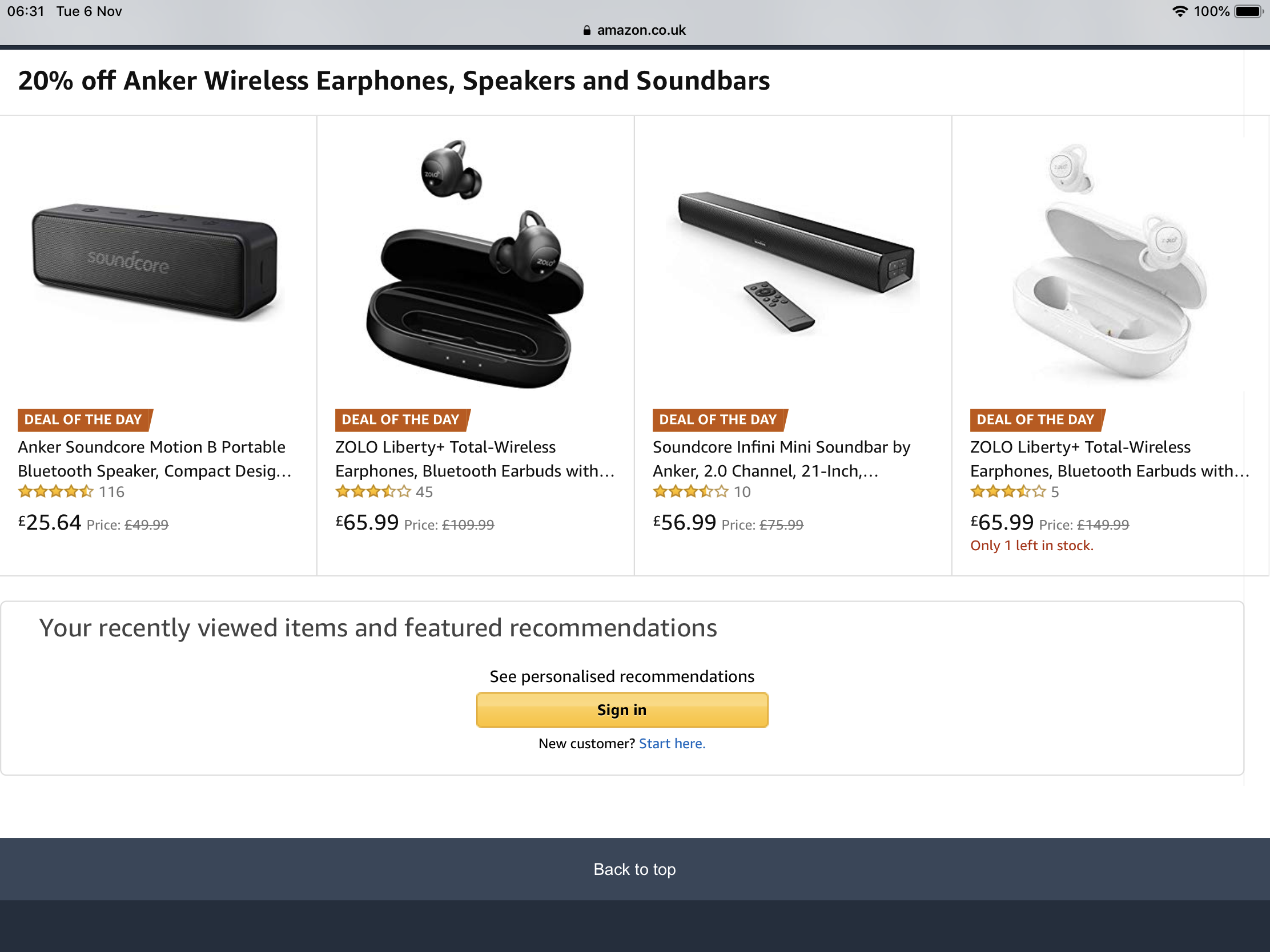 2699f2bc7e1 Amazon UK SoundCore / Zolo Deals - up to 30% Off - 2 Days - Deals ...