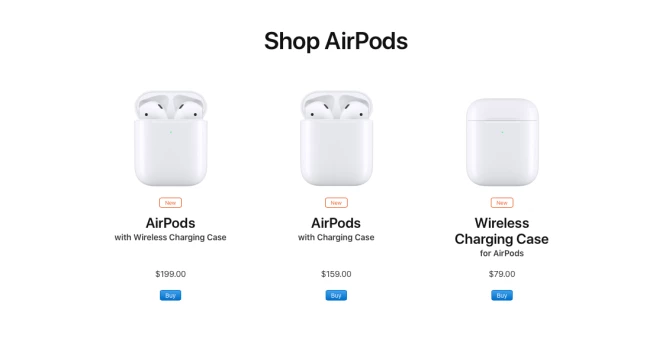 low priced 910f7 f7fb9 Apple announces AirPods 2 with wireless charging case, better ...