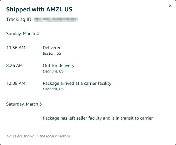 Amazon Shipping   What does this mean & how do you follow   Anker
