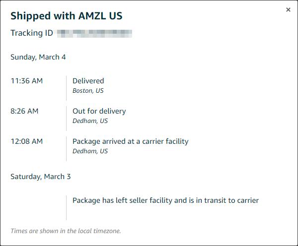 amazon carrier amzn_us tracking
